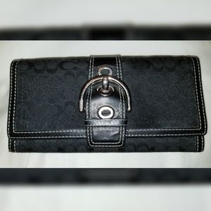 Black Coach Signature C Wallet